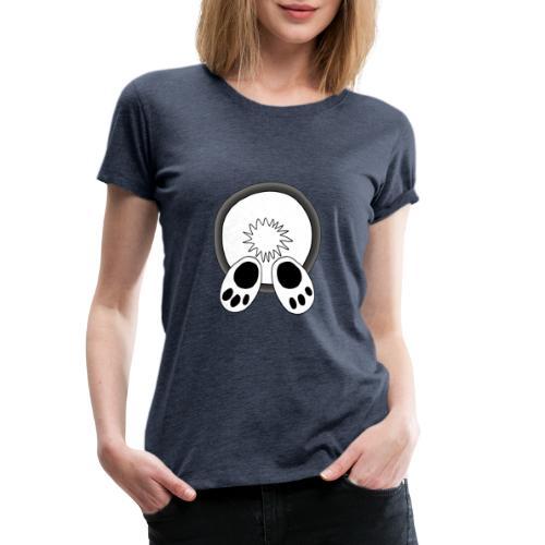 Das weiße Kaninchen verschwindet im rabbit hole - Frauen Premium T-Shirt