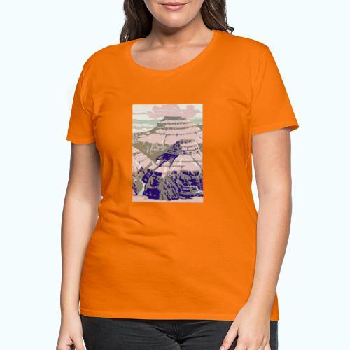 Rocky Mountains Vintage Travel Poster - Women's Premium T-Shirt