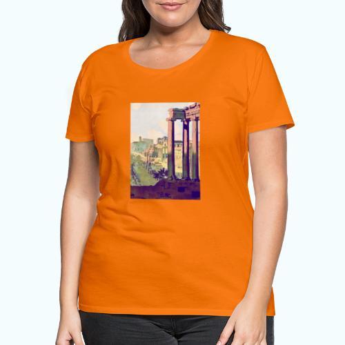Rome Vintage Travel Poster - Women's Premium T-Shirt