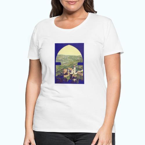 Tuscany vintage travel poster - Women's Premium T-Shirt