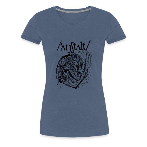 logo mit wesen (schwarz) - Frauen Premium T-Shirt