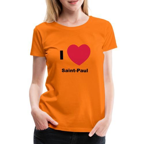 i love sainte paul - T-shirt Premium Femme