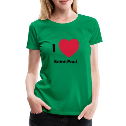 i love sainte paul - T-shirt Premium Femme
