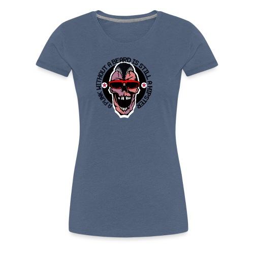 tete de mort hipster punk citation humour crane sk - T-shirt Premium Femme