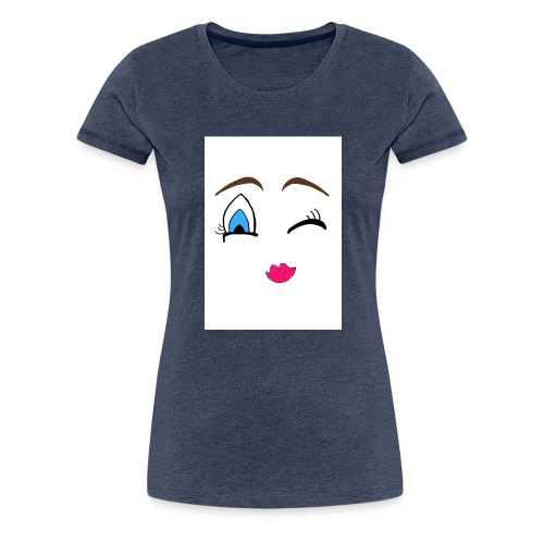 Winky emoji jpg - Women's Premium T-Shirt