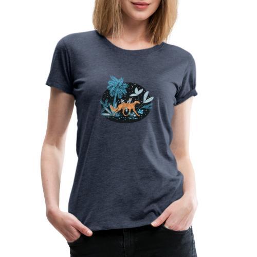 Saluki im Tropenwald - Frauen Premium T-Shirt