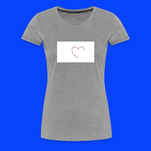 t-shirt bianca con cuore - Maglietta Premium da donna