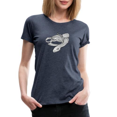 Schlange mit Schlagring - Frauen Premium T-Shirt