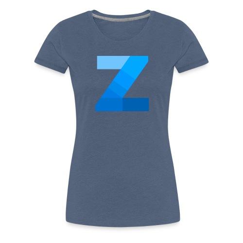ZettaOS Blue Contrast - Vrouwen Premium T-shirt