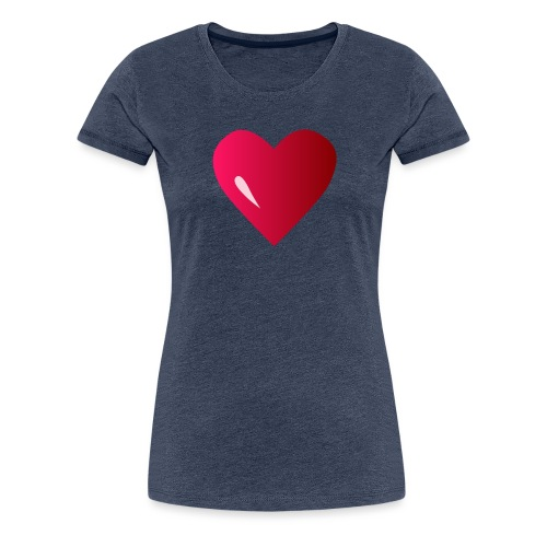 logo corazon rosa by Vexels - Camiseta premium mujer