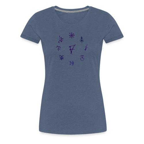 Círculo de runas - Camiseta premium mujer