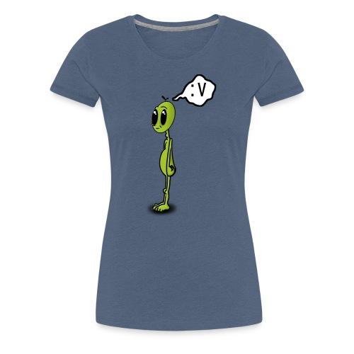 Alien :v - Camiseta premium mujer