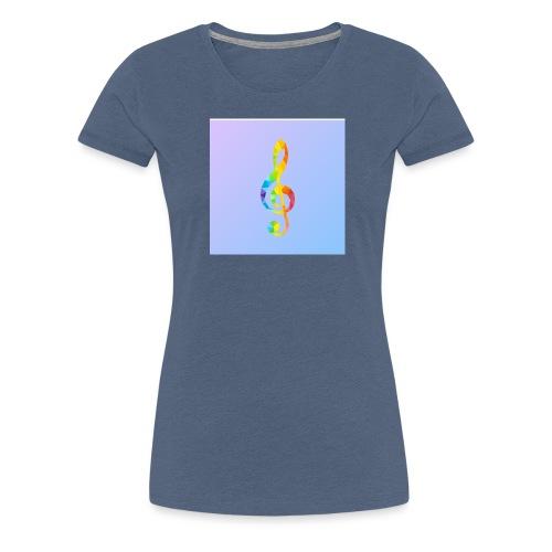 Der Notenschlüssel - Frauen Premium T-Shirt