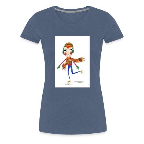 schaatser png - Vrouwen Premium T-shirt
