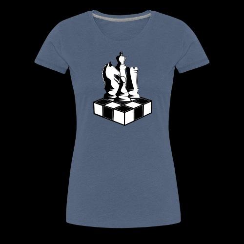 Ajedre z - Camiseta premium mujer