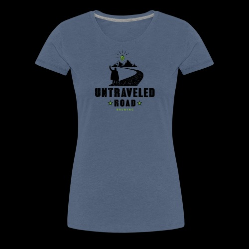 Untraveled Road Logo - black/small - Frauen Premium T-Shirt