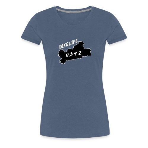 Bikelife0342 Zwart - Vrouwen Premium T-shirt