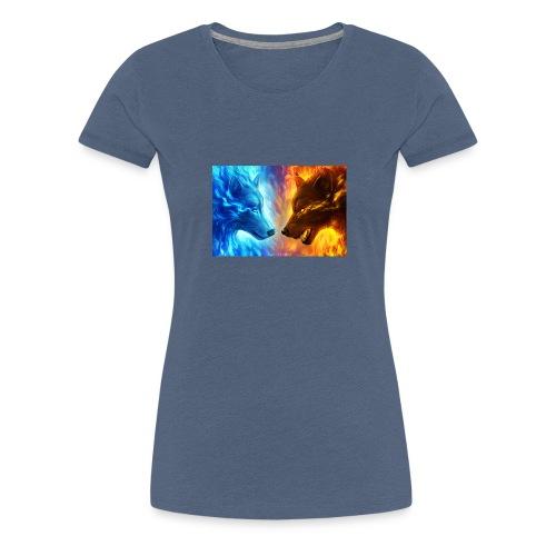 vuur water wolf - Vrouwen Premium T-shirt