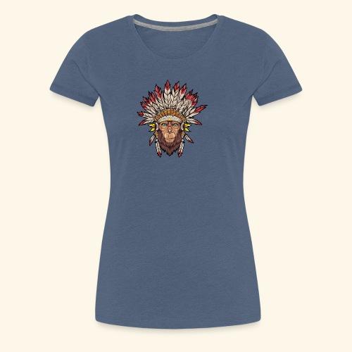 Tête de singe singes drôles - T-shirt Premium Femme
