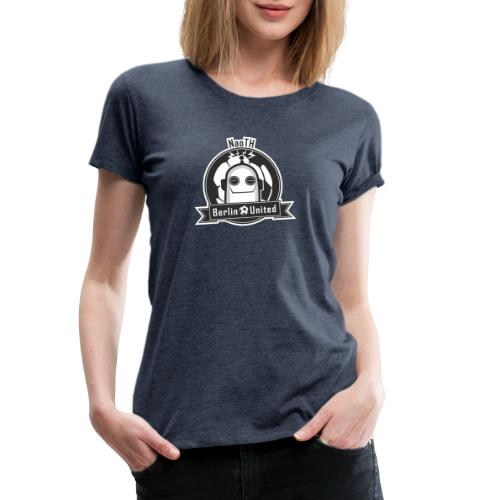 Berlin United - Happy Robot black with border - Frauen Premium T-Shirt
