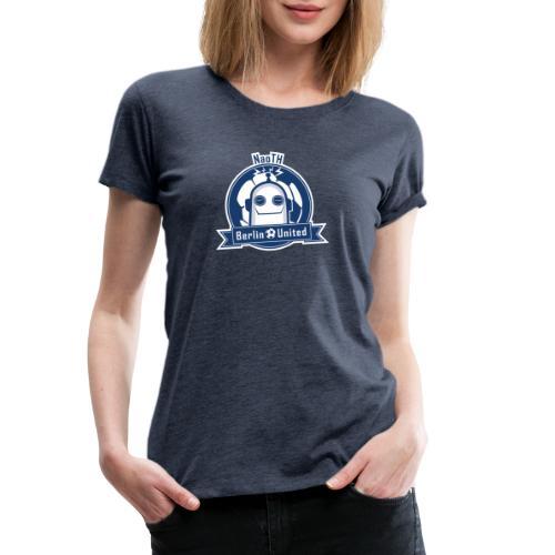 Berlin United - Happy Robot blue with border - Frauen Premium T-Shirt