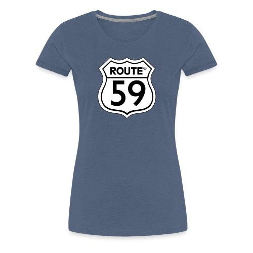 Route 59 zwart wit - Vrouwen Premium T-shirt