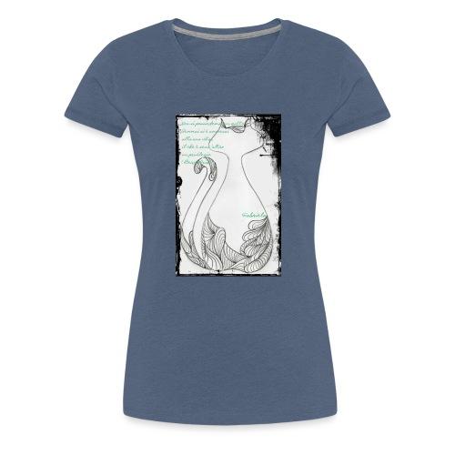 Gatto elegante 2 - Maglietta Premium da donna