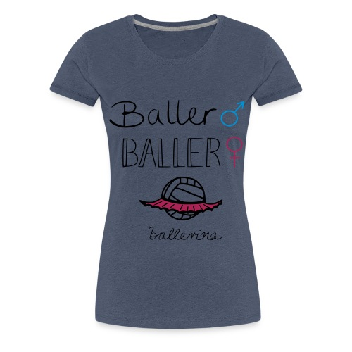 Volleyball Ballerina - Frauen Premium T-Shirt