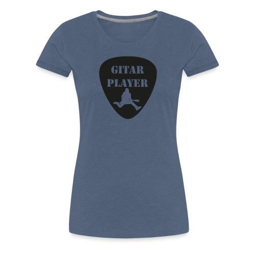 GitarSpringer T-Shirt mit Action Gitarrist - Frauen Premium T-Shirt