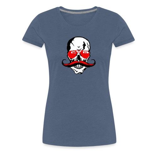 tete de mort crane moustache skull moustachu fanta - T-shirt Premium Femme