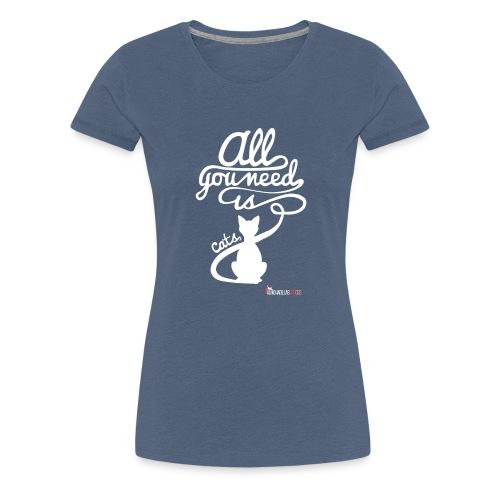 allyouneedblanco-png - Camiseta premium mujer