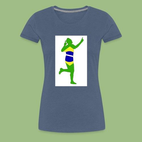 Neymár Brazil - Premium-T-shirt dam