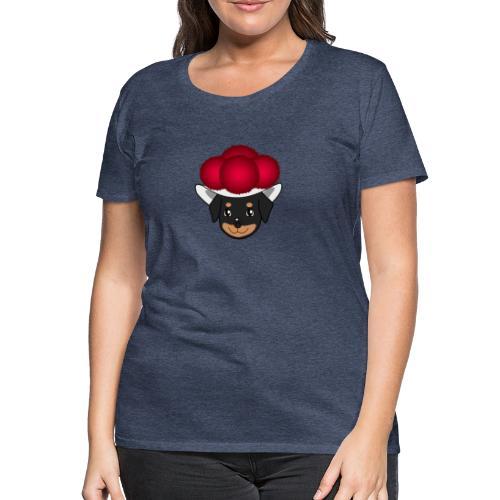 Baby-Rottweiler mit Bollenhut - Frauen Premium T-Shirt