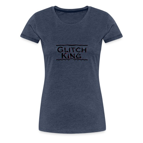 Glitch-King-Logo (extreme) - Frauen Premium T-Shirt
