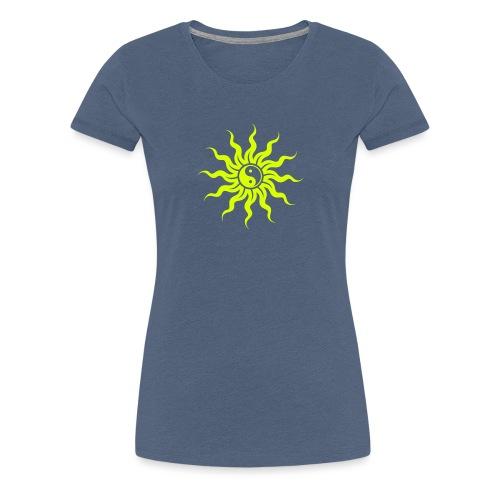 Yin Yang Sonne - Frauen Premium T-Shirt