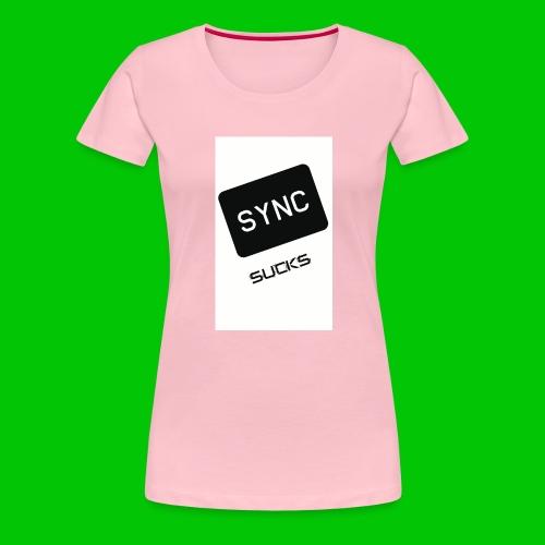 t-shirt-DIETRO_SYNK_SUCKS-jpg - Maglietta Premium da donna
