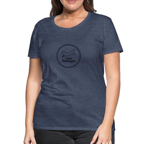 pilvimarjanlogovalk - Naisten premium t-paita