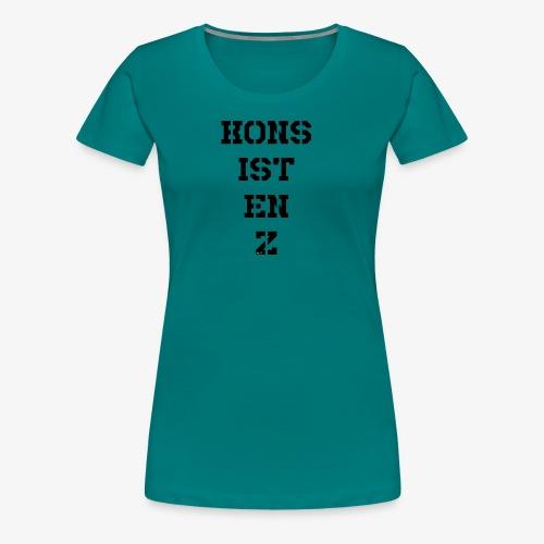 Konsistenz - schwarz - Frauen Premium T-Shirt
