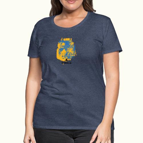 Gorilla Palmen - Frauen Premium T-Shirt