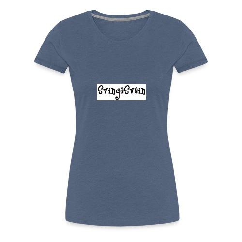 svingesvein tekst - Premium T-skjorte for kvinner