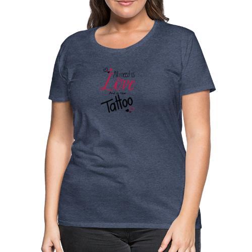 all i need is (schwarz) - Frauen Premium T-Shirt