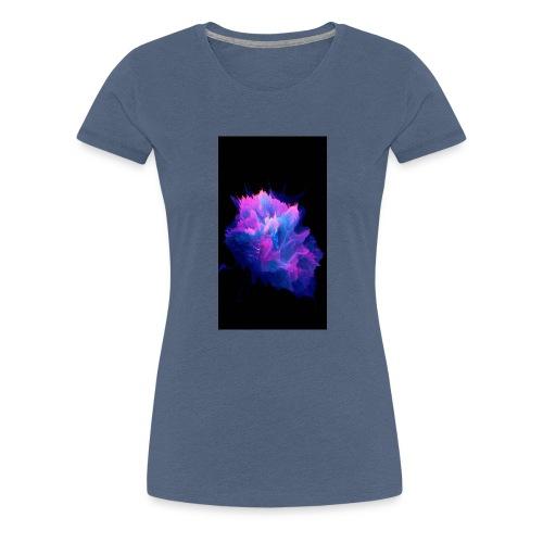 Purple and blue paint splat - Women's Premium T-Shirt