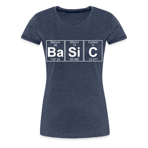 Ba-Si-C (basic) - Full - Women's Premium T-Shirt