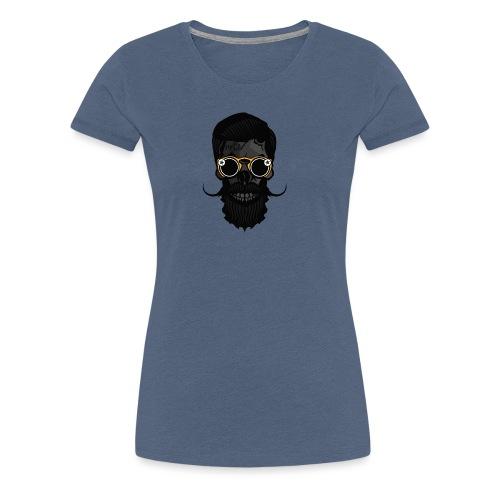 tete de mort crane skull hipster lunette de soleil - T-shirt Premium Femme
