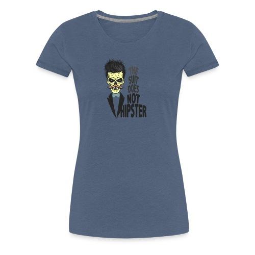 tete de mort hipster citation skull crane humour m - T-shirt Premium Femme