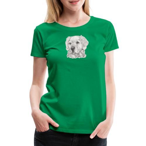 golden retriever - Dame premium T-shirt