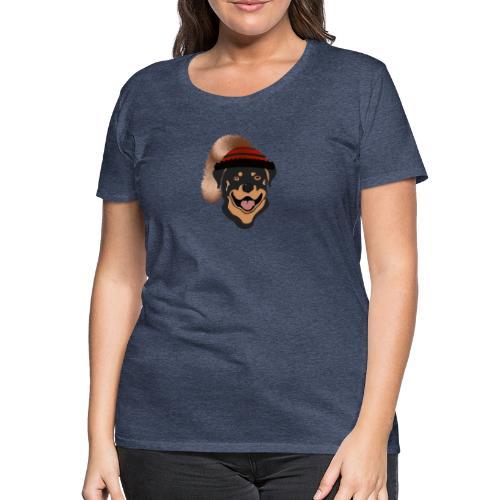 Rottweiler mit Wadelkappe - Frauen Premium T-Shirt