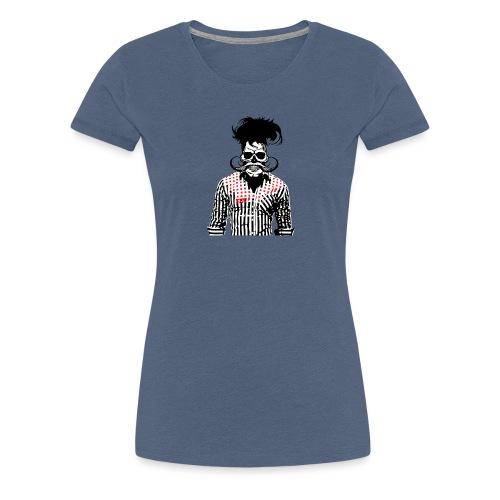 tete de mort hipster chemise skull moustache crane - T-shirt Premium Femme
