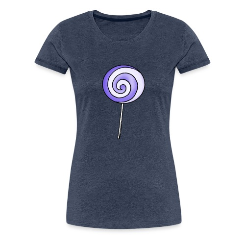 geringelter Lollipop - Frauen Premium T-Shirt