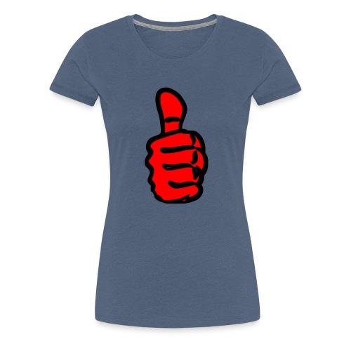 large-Thumbs-Up - Women's Premium T-Shirt
